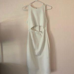 ASOS white mid cutout bridal